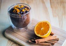 Crema dell'arancia dell'avocado del cacao Fotografia Stock Libera da Diritti