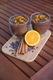 Crema dell'arancia dell'avocado del cacao Immagine Stock