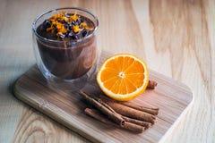 Crema dell'arancia dell'avocado del cioccolato Immagine Stock