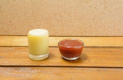 crema dell'insalata Fotografia Stock