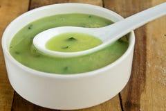 Crema della minestra degli spinaci Immagine Stock