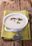 Crema della zuppa di fungo immagini stock