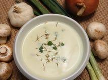 Crema della zuppa di fungo Immagine Stock