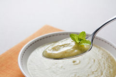 Crema dello zucchini fotografia stock