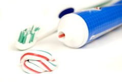 Crema dental Imágenes de archivo libres de regalías
