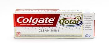Crema dental de Colgate imagen de archivo