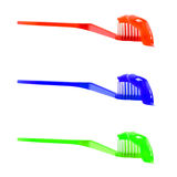 Crema dental del cepillo de dientes Imágenes de archivo libres de regalías