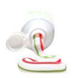 Crema dental y tubo Foto de archivo libre de regalías