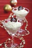 Crema di Champagne con la caramella di cioccolato Fotografia Stock