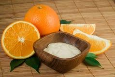 Crema di fronte arancione naturale Fotografia Stock