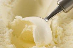 Crema di gelato alla vaniglia Fotografie Stock Libere da Diritti