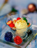 Crema di gelato alla vaniglia saporita Fotografie Stock
