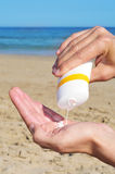 Crema di Sun Immagini Stock