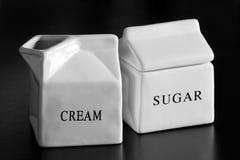 Crema e zucchero Fotografia Stock