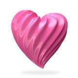 Crema en forma de corazón de la fresa Imágenes de archivo libres de regalías
