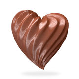 Crema en forma de corazón del chocolate Foto de archivo libre de regalías