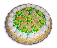 Crema italiana de la torta de Savoiardi Fotos de archivo libres de regalías