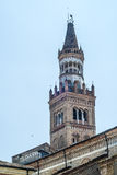 Crema (Italy): Duomo. Crema (Cremona, Lombardy, Italy): belfry of the historic cathedral royalty free stock images