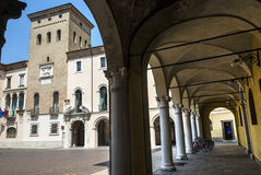 Crema (Italy), historic square Royalty Free Stock Image