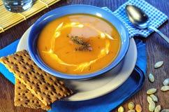 Crema-minestra della zucca Fotografia Stock