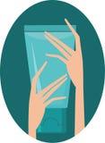 Crema per le mani illustrazione di stock