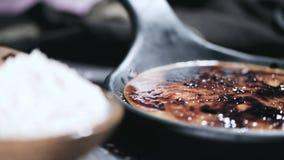Crema portoghese del leite video d archivio