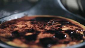 Crema portoghese del leite archivi video