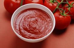 Crema rossa. Fotografie Stock