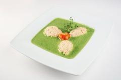 Crema-sopa del bróculi Imagenes de archivo