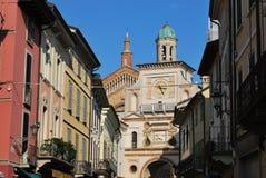 Crema-Stadt, Italien Stockbild