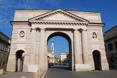 Crema town, Italy. Ombriano gate, ancient entrance to Crema town, Lombardy, Italy Stock Photos