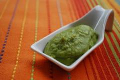 Crema verde delle fave Immagini Stock