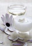 Crema y petróleo Foto de archivo libre de regalías