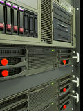 Cremagliera dei server del calcolatore del centro dati Fotografia Stock Libera da Diritti