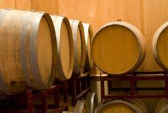 Cremagliera del barilotto di vino Fotografia Stock