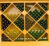 Cremagliera del vino Fotografia Stock