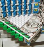 Cremagliera ottica della fibra con alta densità del connecto Fotografia Stock Libera da Diritti