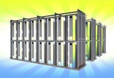 Cremagliera virtuale dei server Fotografie Stock