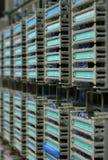 Cremalheira de fio das telecomunicações Fotografia de Stock