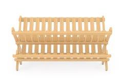 Cremalheira de secagem do prato de bambu da cozinha rendição 3d Imagens de Stock