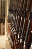 Cremalheira do rifle no navio das forças armadas Imagens de Stock