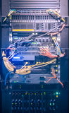 Cremalheira do servidor no centro de dados Foto de Stock Royalty Free