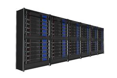 Cremalheira isolada dos servidores ilustração stock