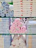 Cremalheiras de toalha Fotografia de Stock