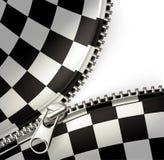 Cremallera, checkered Imagen de archivo libre de regalías