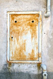 cremallera de acero abstracta del padock en un sumirago de Varese Italia Foto de archivo