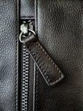 Cremallera del bolso de cuero Imagen de archivo libre de regalías