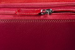 Cremallera del bolso de la mujer Fotos de archivo