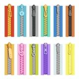 Cremalleras coloreadas Herramientas para la ropa libre illustration