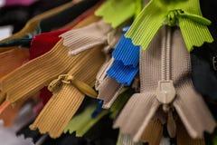 Cremalleras coloridas Foto de archivo